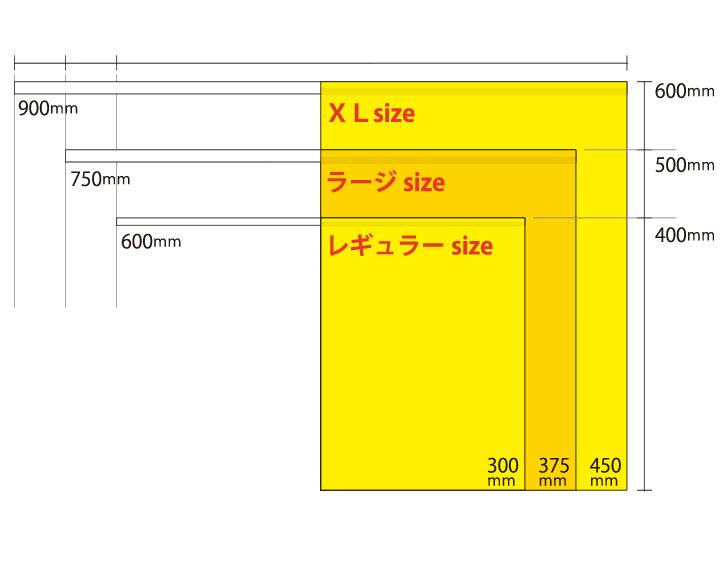 交通安全旗サイズ比較