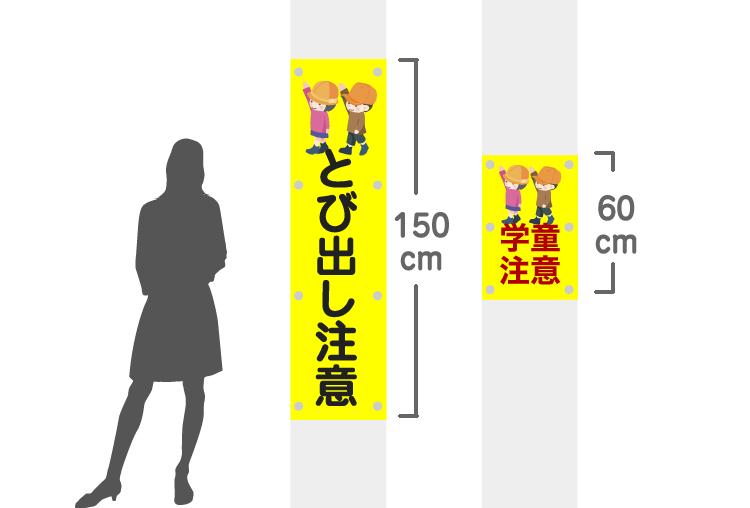 電柱幕サイズイメージ